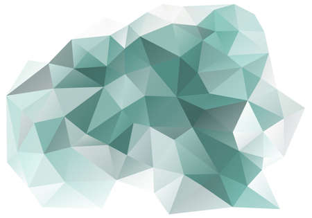 teal background: abstract teal and grey low poly background, vector design element Illustration