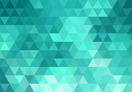 abstract teal geometric vector background, triangle pattern Ilustração