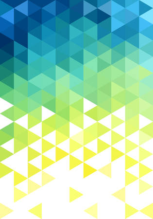 抽象的なブルー グリーン低ポリのベクトルの背景、三角形のパターン