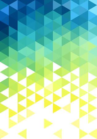 추상 파란색 녹색 낮은 폴리 벡터 배경, 삼각형 패턴