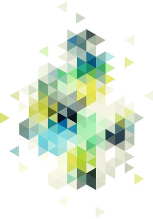 abstract low poly vector background, triangle pattern