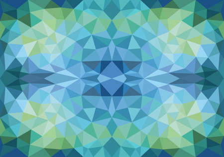 creative: abstract geometric blue and green polygon pattern, seamless vector background