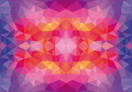 azul del modelo de polígono rojo abstracto geométrico, vector de fondo sin fisuras Ilustración de vector