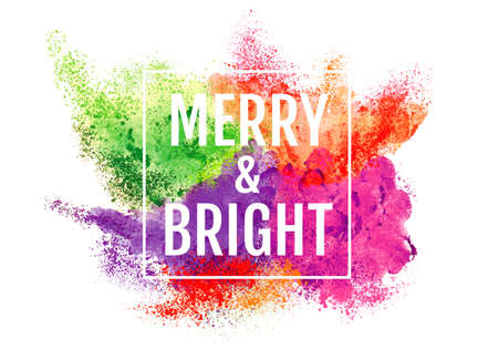 Abstract Christmas background with powder and particle explosion, vector over white background