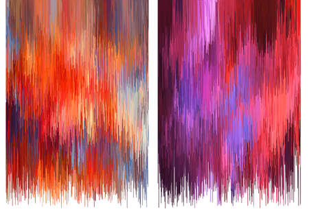 Abstract red and pink glitch backgrounds, vector illustration