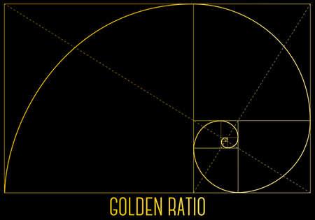 golden ratio, geometric fibonacci formula, vector background