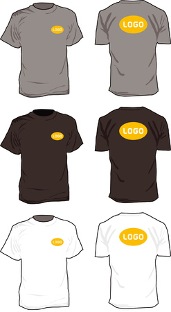 branded product: Tshirts with positional logo