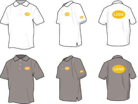 branded product: Polo shirts with positional logo Illustration