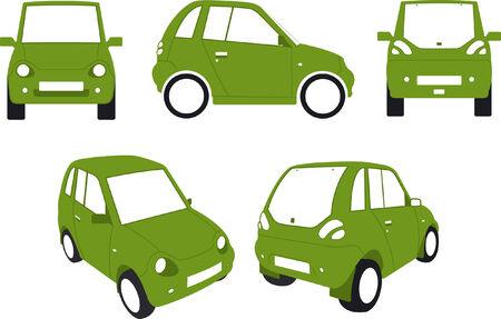 eco car: Electric coche ecol�gico  Vectores