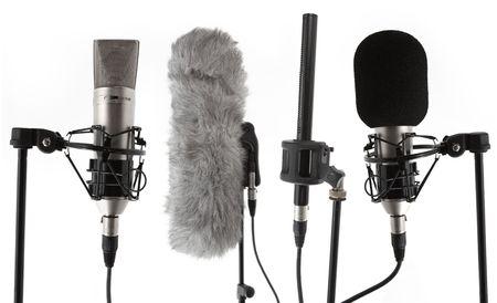 condenser: 4 studio condenser microphones
