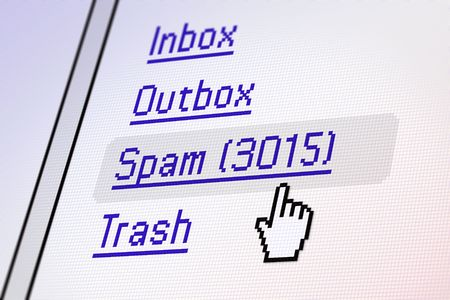 Screen showing of Spam mail