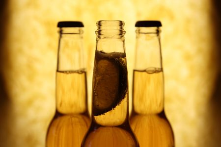 pilsner beer: Mexican beer bottles