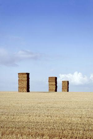 monolithic: Monolithic haystacks Stock Photo