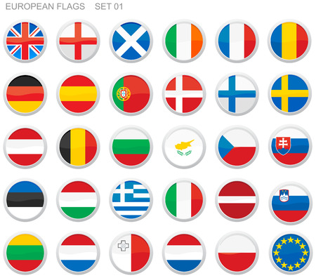 Flags of Europe Stock Vector - 4106342