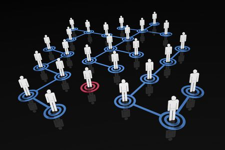 alone in crowd: Network people - alone