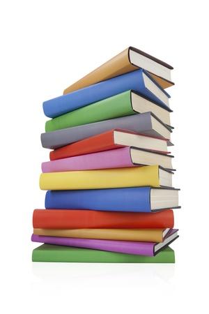 Stapel von Büchern über white
