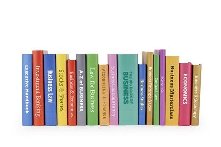 Business-Bücher auf weiß