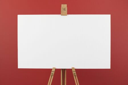 Canvas on easel Stock Photo - 10486526