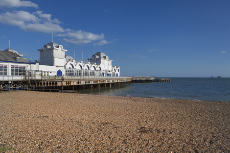 portsmouth: Southsea Pier, near Portsmouth, Hampshire, England Stock Photo