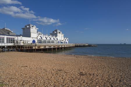 southsea: Southsea Pier, near Portsmouth, Hampshire, England Stock Photo