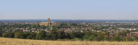Guildford - large panorama showing Cathedral. Stok Fotoğraf