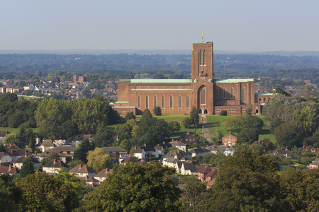 Guildford Cathedral, Surrey, UK 免版税图像