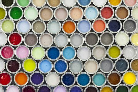 Muestras bote de pintura coloridos Foto de archivo - 57946059