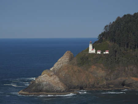 Heceta Lighthouse, OR 免版税图像