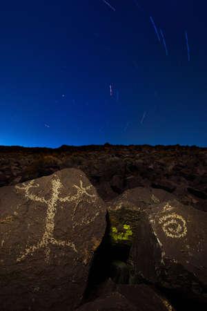 Ancient Petroglyphs of Northern Nevada Stock Photo