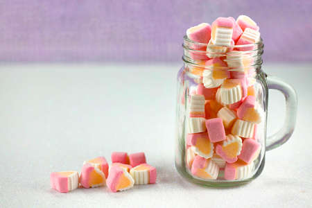 colorant: Colorful, bright, tasty and sweet miniature marshmallows