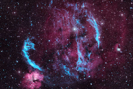 Nebulas, galaxies and stars in beautiful composition.