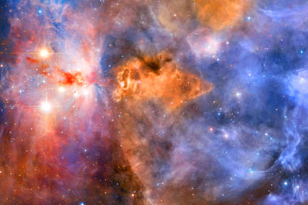 Nebulas, galaxies and stars in beautiful composition. Awesome print for wallpaper.