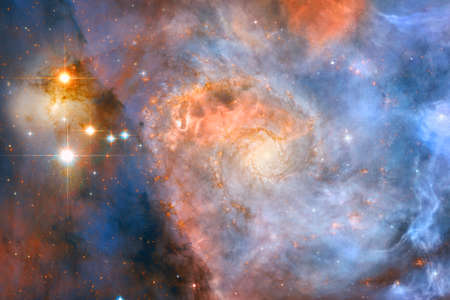 Galaxy in outer space. Beautiful science fiction wallpaper.