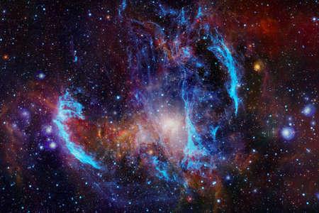 Arte del espacio profundo. Starfield polvo de estrellas, nebulosa y galaxia.