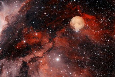 Pluto. Awesome quality planets of solar system. Foto de archivo