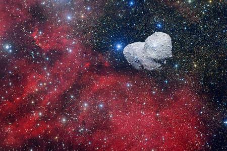 Asteroide. Cosmos de ciencia ficción. Foto de archivo