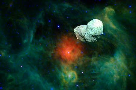 Asteroid. Science fiction cosmos. Foto de archivo