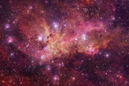 Outer space. Science fiction cosmos.