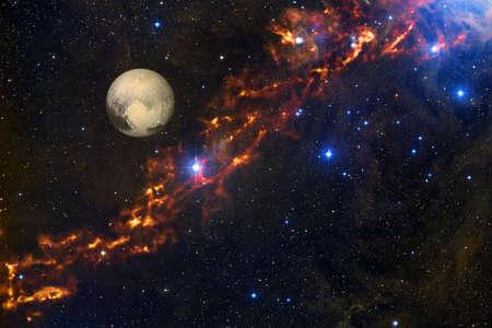 Pluto. Solar system. Cosmos art. Foto de archivo