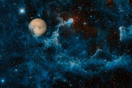 Pluto. Solar system. Cosmos art.