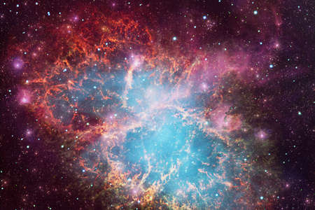 Outer space art. Starfield. Awesome nebulae.
