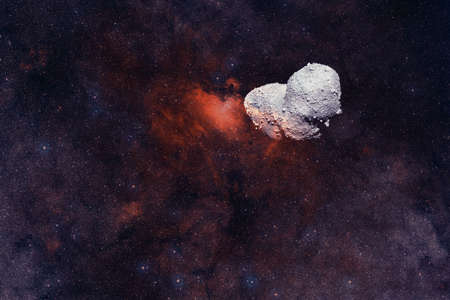 Asteroid. Science fiction cosmos.