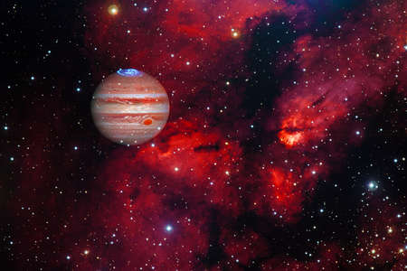 Jupiter. Solar system. Cosmos art. 免版税图像