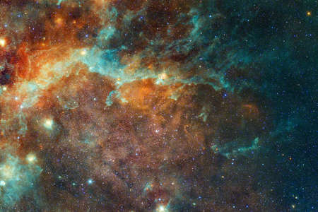Endless universe with stars and galaxies in outer space. Cosmos art. Archivio Fotografico