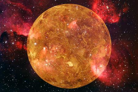 Planet Venus. Sonnensystem. Kosmos Kunst.