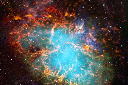 Endless universe with stars and galaxies in outer space. Cosmos art.