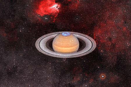 Planet Saturn. Solar system. Cosmos art. Reklamní fotografie