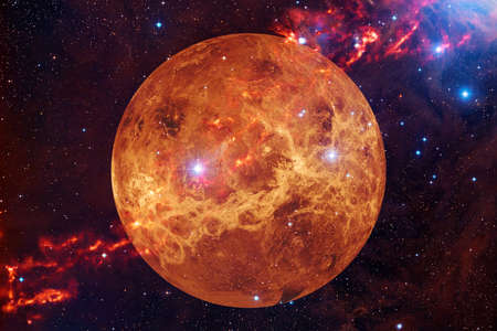 Planet Venus. Solar system. Cosmos art. Banque d'images