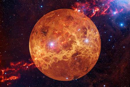 Planeta Venus. Sistema solar. Arte cosmos. Foto de archivo