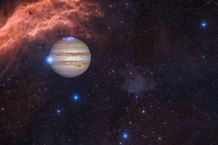 Jupiter. Solar system. Cosmos art.
